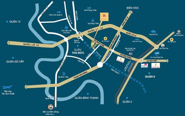 Vị trí căn hộ Phúc Yên Prosper Phố Đông ở đâu?