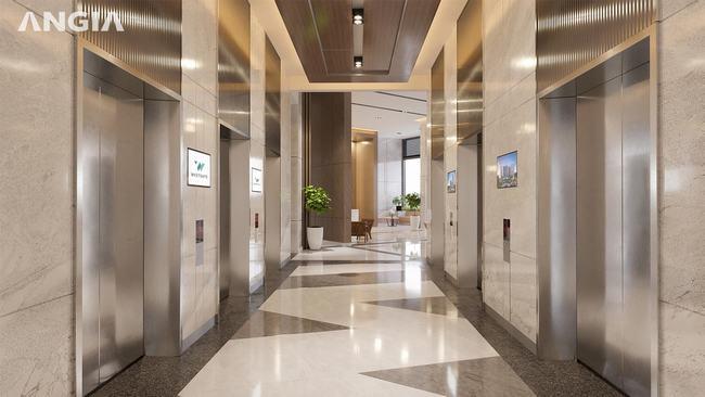 Hành lang thang máy căn hộ West Gate Bình Chánh