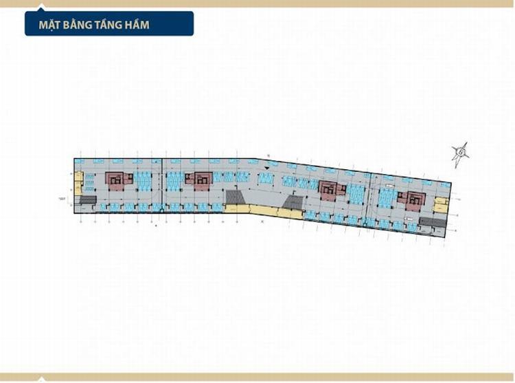 Mặt bằng tầng hầm dự án Aria Vũng Tàu