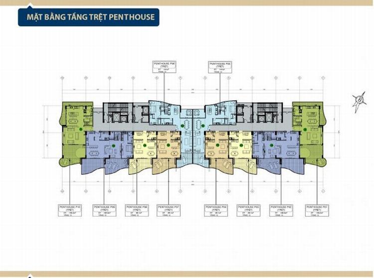 Mặt bằng tầng trệt Penthouse dự án Aria Vũng Tàu