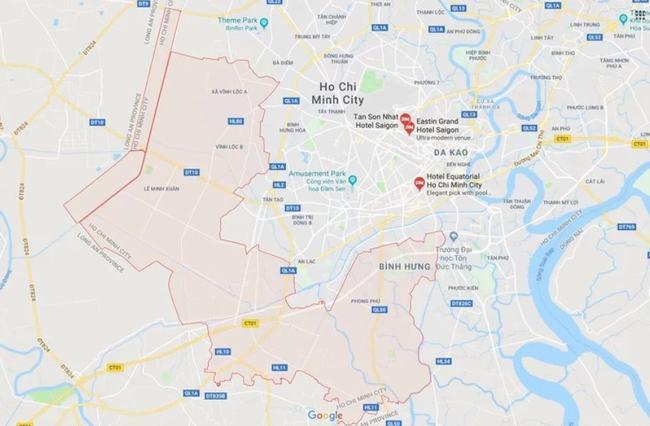 Huyện Bình Chánh sở hữu vị trí địa lý khá thuận lợi với khả năng liên kết vùng tốt