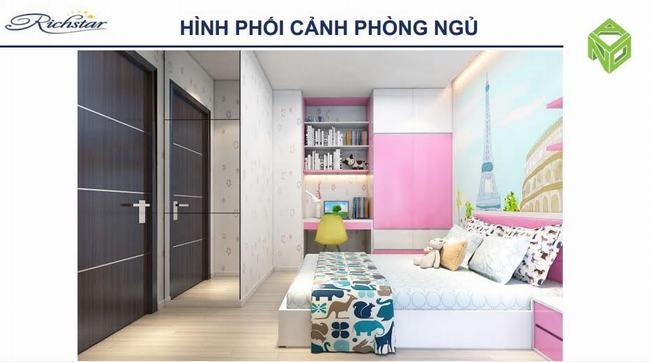 Phòng ngủ căn hộ Richstar