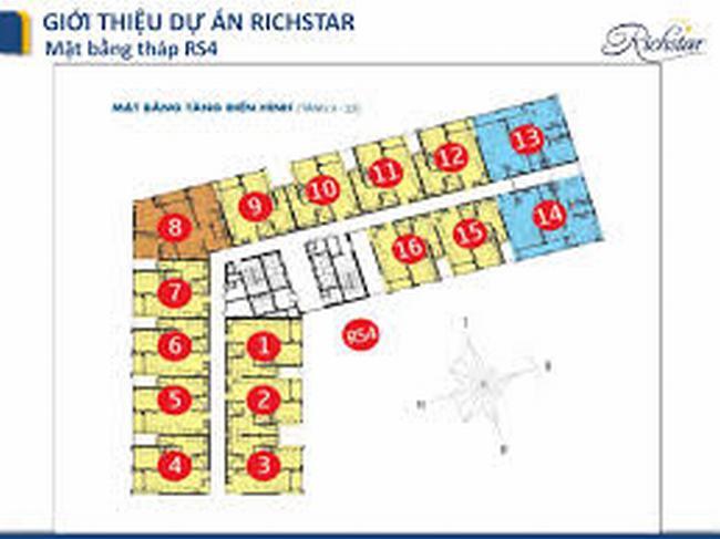 Mặt bằng RS4 - khu 1 richstar