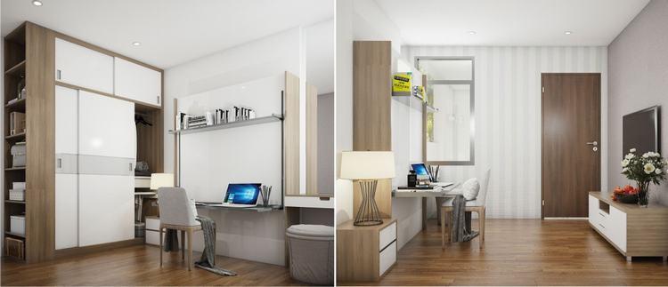 Thiết kế phòng ngủ nhà mẫu - Saigon Intela