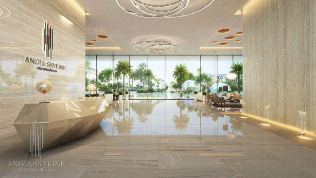 An Gia Skyline sảnh đón resort