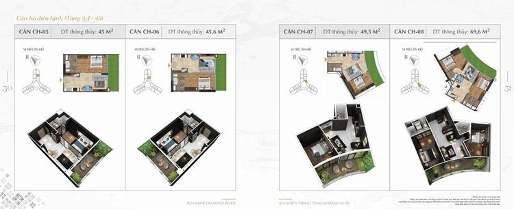 Thiết kế căn hộ Sunshine Diamond River 05-08