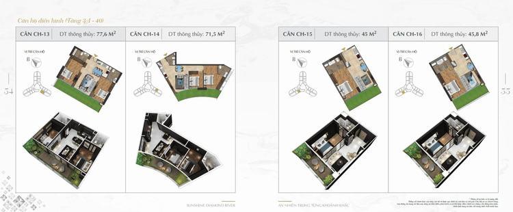 Thiết kế căn hộ Sunshine Diamond River 13-16