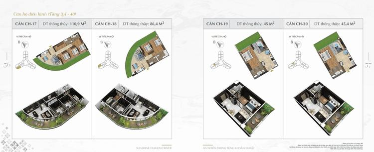 Thiết kế căn hộ Sunshine Diamond River 17-20