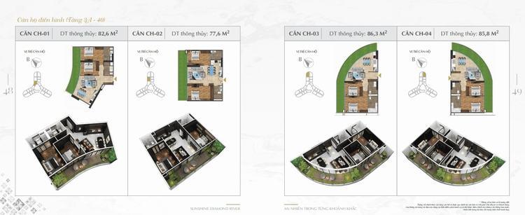 Thiết kế căn hộ Sunshine Diamond River 01-04