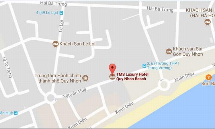 Vị trí dự án TMS Hotel Quy Nhơn Beach