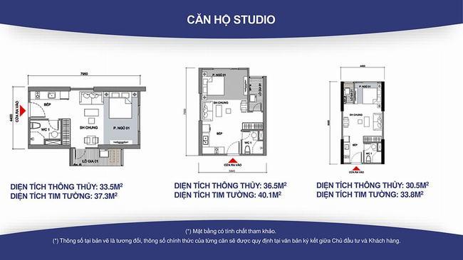 mặt bằng căn hộ studio vincity quận 9
