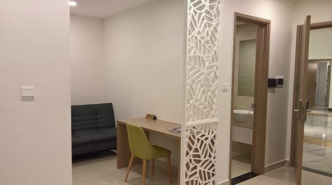 Phòng khách và phòng ngủ căn hộ 1 phòng ngủ Vinhomes Grand Park