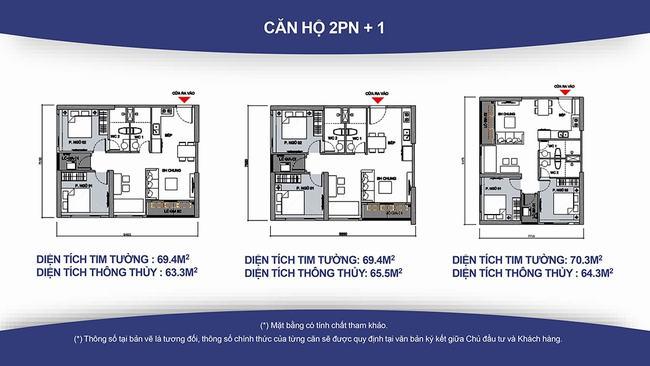 Loại hình căn hộ siêu hot 2PN+1 đa năng với 2 phòng tắm được bùng nổ giao dịch trong thời gian qua