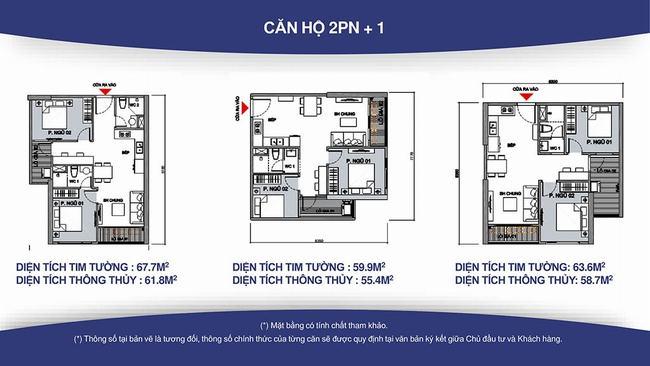 căn hộ 2 phòng ngủ + 1 vincity grand park quận 9