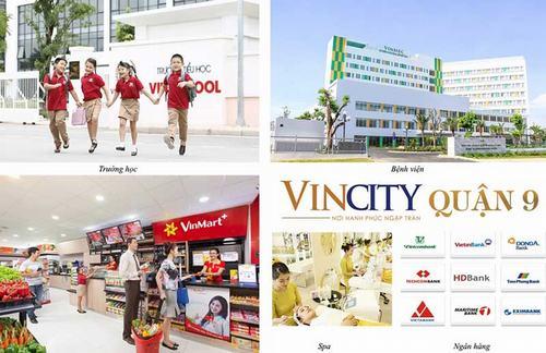 Tổ hợp hệ thống tiện ích dịch vụ hoàn hảo chỉ có tại dự án biệt thự Vincity Vingroup Quận 9