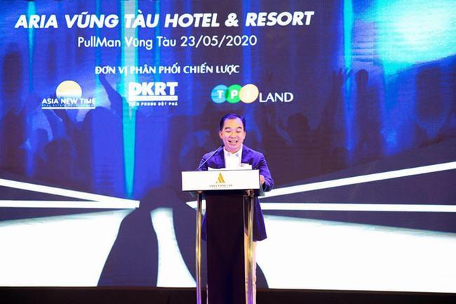Ông Nguyễn Hữu Thuận - Tổng giám đốc đơn vị phát triển dự án - Công ty phát biểu khai mạc lễ ra quân khu căn hộ Aquamarine
