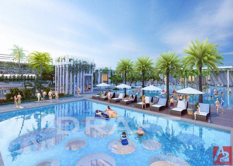 Hồ bơi nội khu D-One Phan Văn Trị Gò Vấp
