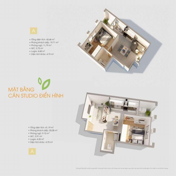 Thiết kế căn hộ Studio dự án D-One Gò Vấp