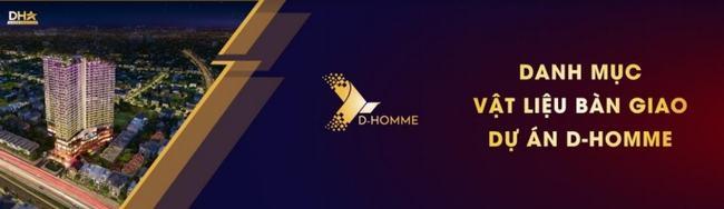 Danh mục vật liệu bàn giao dự án D-Homme Quận 6