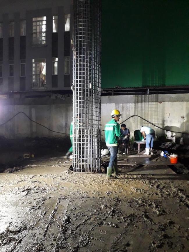 Hình ảnh thi công thực tế ép cọc số 33 dự án D-Homme