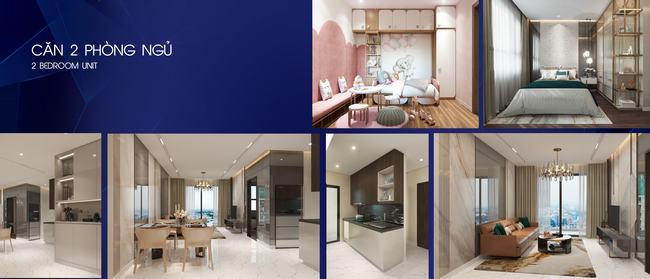 Thiết kế căn hộ 2 phòng ngủ dự án Opal Skyline