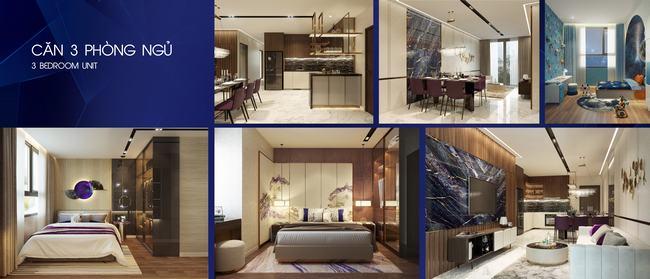 Thiết kế căn hộ 3 phòng ngủ Opal Skyline Bình Dương