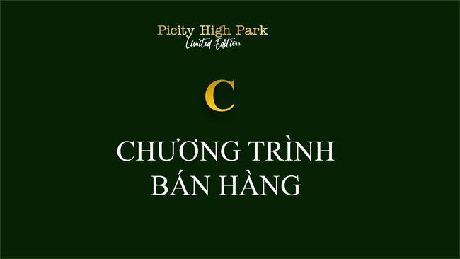 Chương trình bán hàng dự án Picity High Park Quận 12