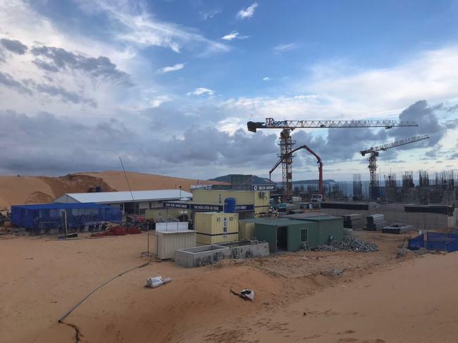 Hình ảnh tiến độ của dự án Apec Mandala Wyndham Mũi Né