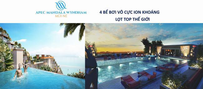 Tiện ích hồ bơi Apec Mandala Wyndham Mũi Né