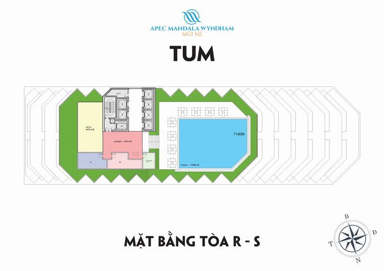 Mặt bằng căn hộ tầng TUM Block Ruby & Sapphire - Apec Mũi Né