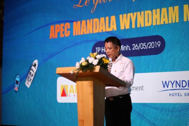 Ông Nguyễn Thanh Hiền - Giám đốc Chi nhánh Tp Hồ Chí Minh Tập đoàn APEC phát biểu chào mừng