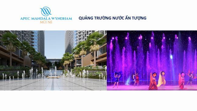 Quảng trường nước - Apec Mandala Wyndham Mũi Né