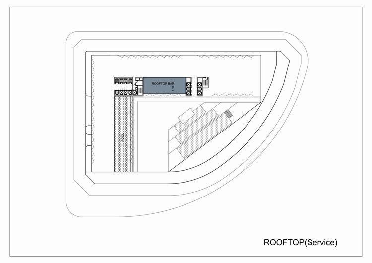 Mặt bằng tầng mái dự án Apec Mandala Wyndham Huế