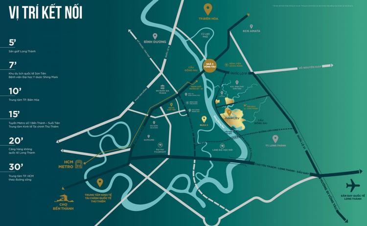 Khả năng liên kết tại dự án Aqua City