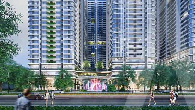 Phối cảnh tiện ích thương mại dự án Astral City Bình Dương