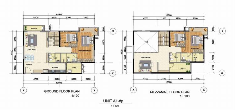 Thiết kế căn hộ 1 phòng ngủ (45m2 - 55m2) - Astral City Bình Dương