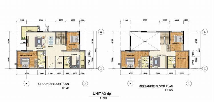 Thiết kế căn hộ 2 phòng ngủ (55m2 – 60m2) – Astral City