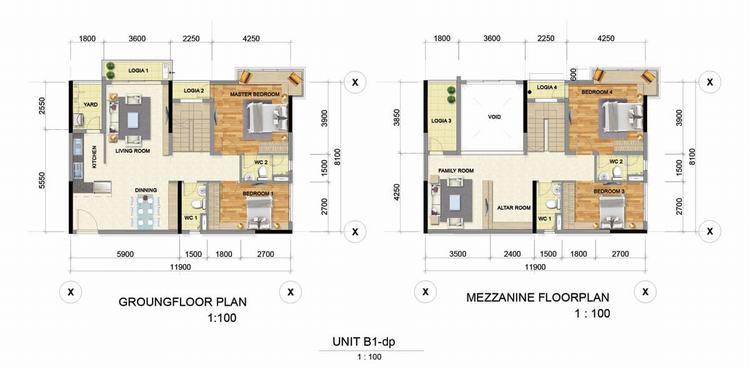 Thiết kế căn hộ 2 phòng ngủ (62m2 – 70m2) – Astral City