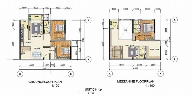 Thiết kế căn hộ 3 phòng ngủ (80m2 – 90m2) – Astral City