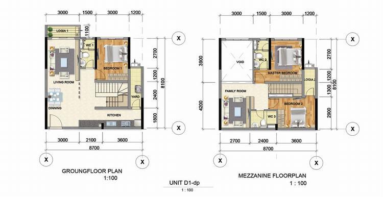 Thiết kế căn hộ D1 dự án Astral City