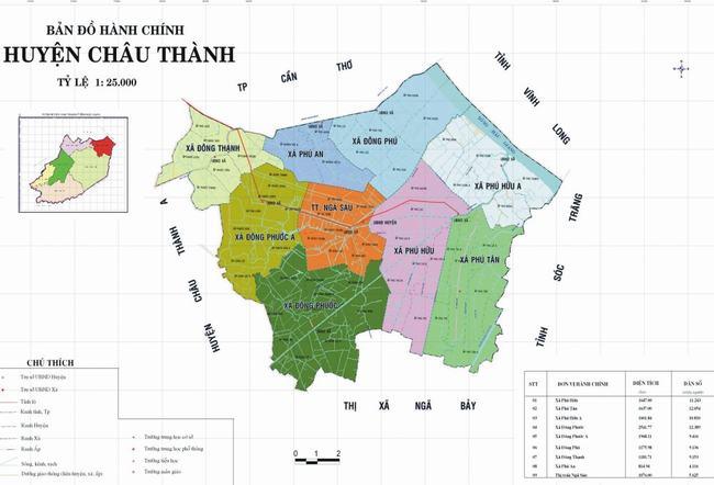 Bản đồ Huyện Châu Thành