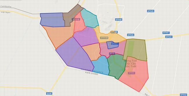 Bản đồ huyện Tri Tôn - An Giang
