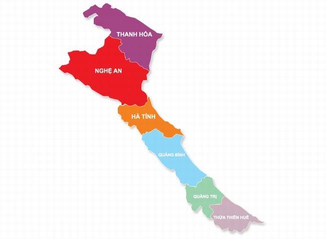 Bản đồ bắc trung bộ