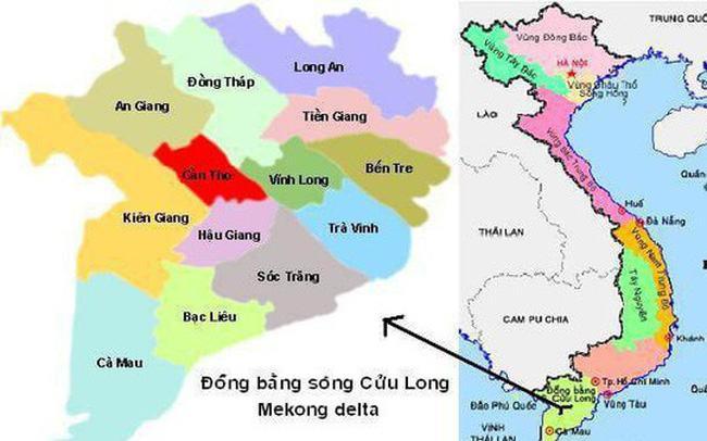 Bản đồ đồng bằng sông cửu long