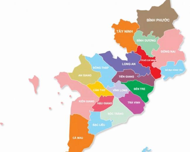 Bản đồ miền Nam Việt Nam