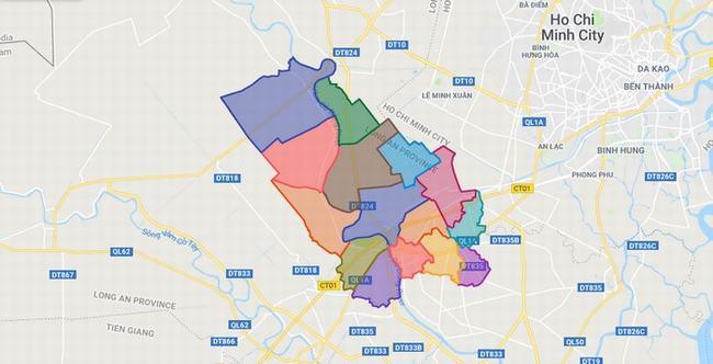 Bản đồ Huyện Bến Lức - Tỉnh Long An