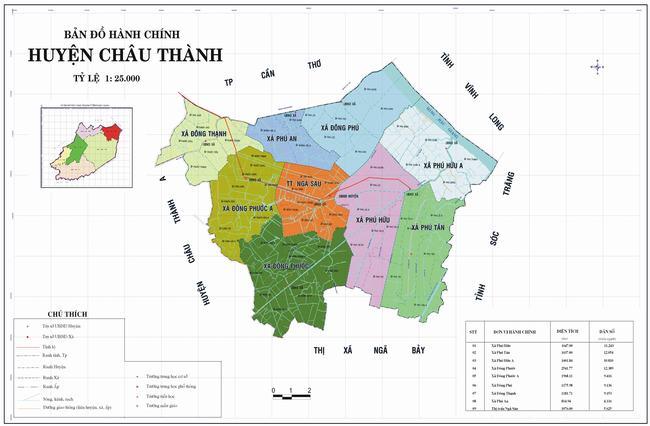 Bản đồ huyện Châu Thành - Tỉnh Long An