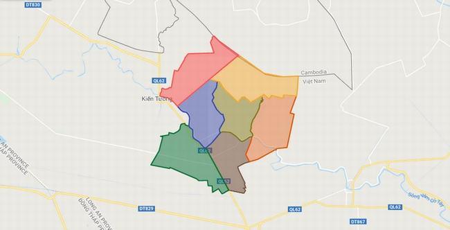 Bản đồ huyện Mộc Hóa - Tỉnh Long An