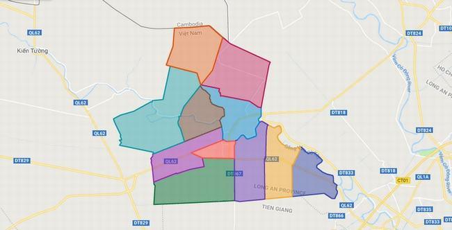 Bản đồ huyện Thạnh Hóa - Tỉnh Long An