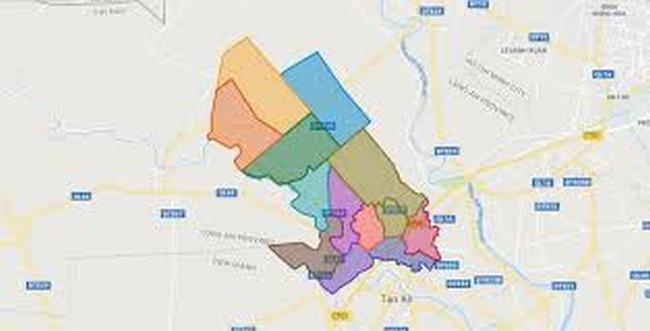 Bản đồ huyện Thủ Thừa - Tỉnh Long An
